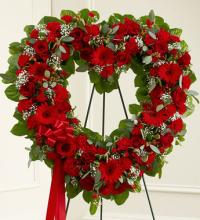 Red Floral Heart Tribute