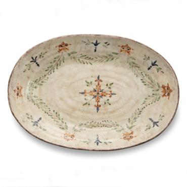 Large Cream Oval Platter