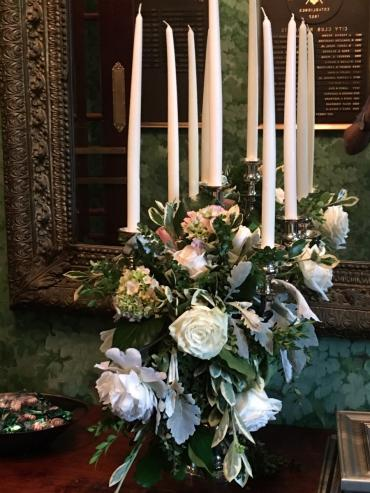 Candlelabra with flowers