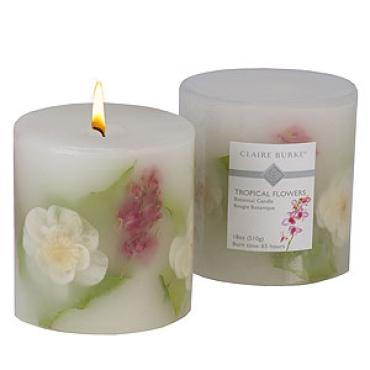 Tropical Flowers Candle
