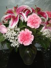 Pink Vased Arrangement