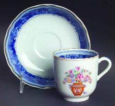 Mandarin Bouquet Tea Cup and Saucer