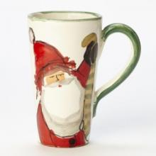 Vietri Old St. Nick Latte Mug