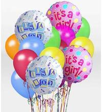 """It\'s A Girl!\"" Balloon Bunch"