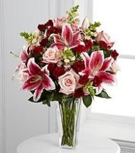 PINKS AND RED ROSES AND LILIES