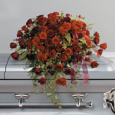 Loving Roses Casket Spray