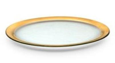 Roman Antique Gold Oval Platter