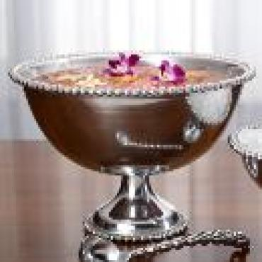 Pewter Beaded Punch Bowl - X-Large #11324