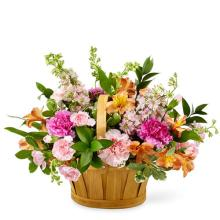 Handle Basket of Spring Flowers