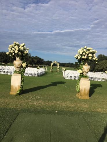 Arbor of flowers at Baton Rouge Country Club