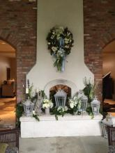 Mantle flower accent