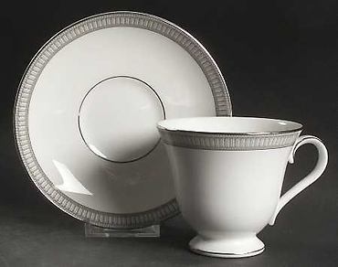 Carina Platinum Tea Cup and Saucer