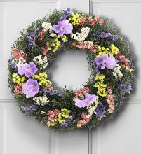 Preserved Pansy Wreath - 16""
