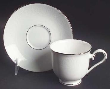 Hannah Platinum Tea Cup and Saucer