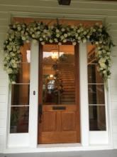 Front door flowers garland