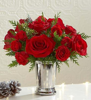 Mint Julep red rose Petite Bouquet