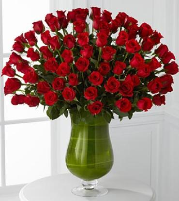 Attraction Luxury Rose Bouquet - 100 Premium Long-Stemmed Ro
