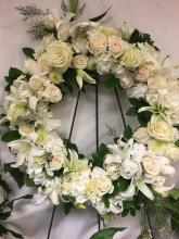 RH Wreath in Elegant White