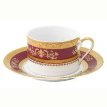Orsay Red Tea Cup and Saucer
