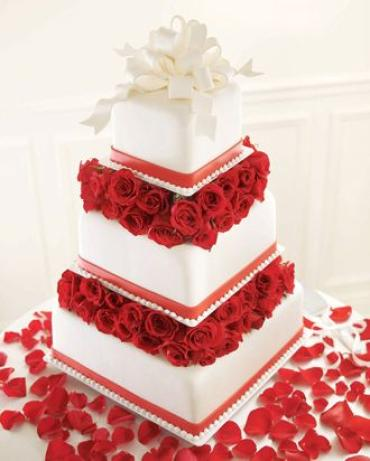 Sweet Roses Cake Decoration