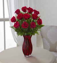 In Love with Red Roses  in Red vase
