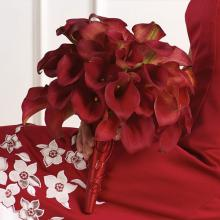 Red Callas Lily Bridal Bouquet