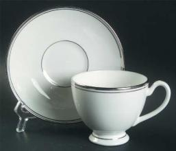 Kilbarry Platinum Tea Cup and Saucer
