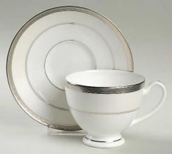 Araglin Platinum Tea Cup and Saucer