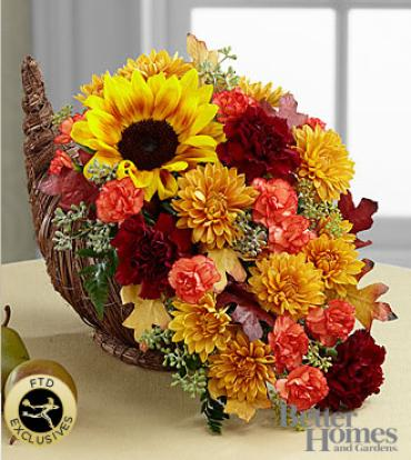 The FTD Fall Harvest Cornucopia by Better Homes and Gardens