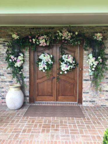 home wedding entrance
