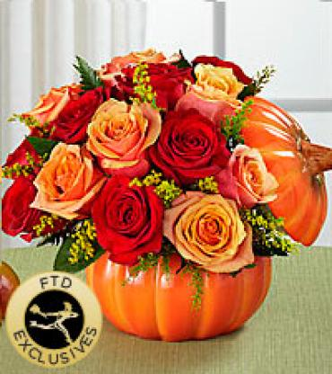 Pumpkin with Roses