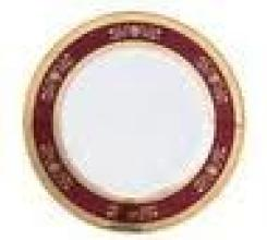 Orsay Red Dinner Plate