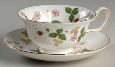 Wild Strawberry Tea Cup & Saucer