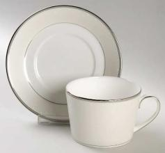 Pointe D\'esprit Tea Cup and Saucer
