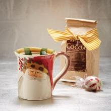 Vietri Old St. Nick animal hat mug