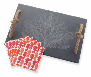Fan Coral Slate Cutting Board