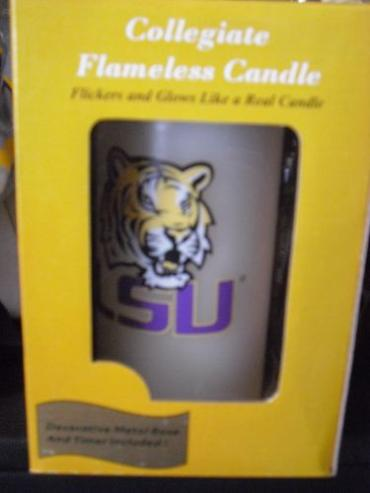 LSU Flameless Candle