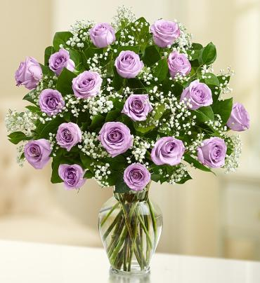 "Rose Eleganceâ""¢ Premium Long Stem Purple Roses"