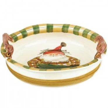 Vietri Old St. Nick handled bowl