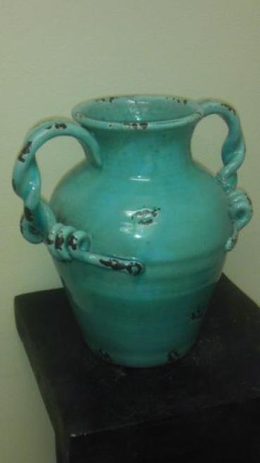 Blue Urn With Handles