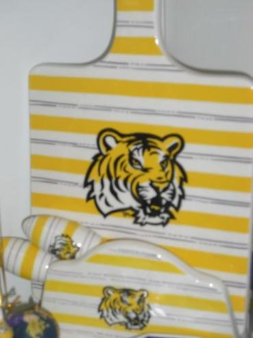 LSU Cheese Board 4 Piece Set