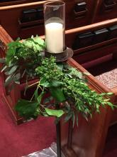 Aisle Candle with greenery