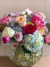 Bubble Bowl of mixed Garden flowers