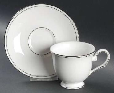 Federal Platinum Tea Cup and Saucer
