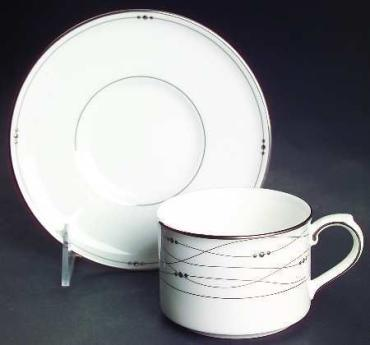 Precious Platinum Tea Cup and Saucer