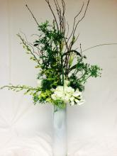 Large Green and White Centerpiece