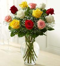Rose Elegance Assorted Premium Long Stem Assorted Roses