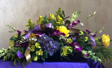 Purple and Gold Centerpiece