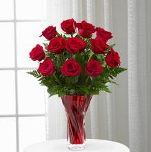 The Anniversary Rose Bouquet Beautiful Red Vase