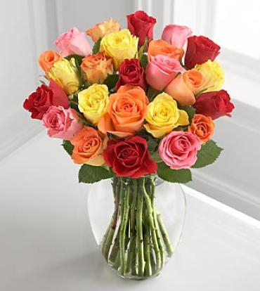 Colorful mixed roses